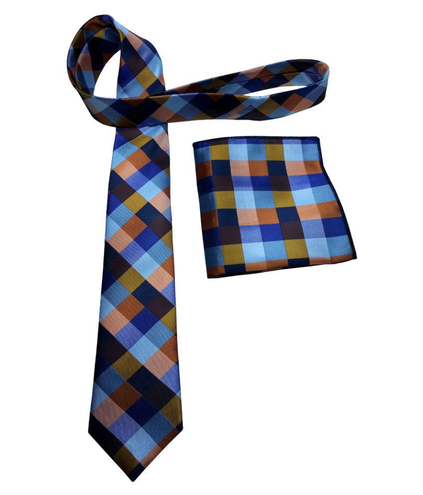 Mentiezi Multi Checks Micro Fiber Necktie