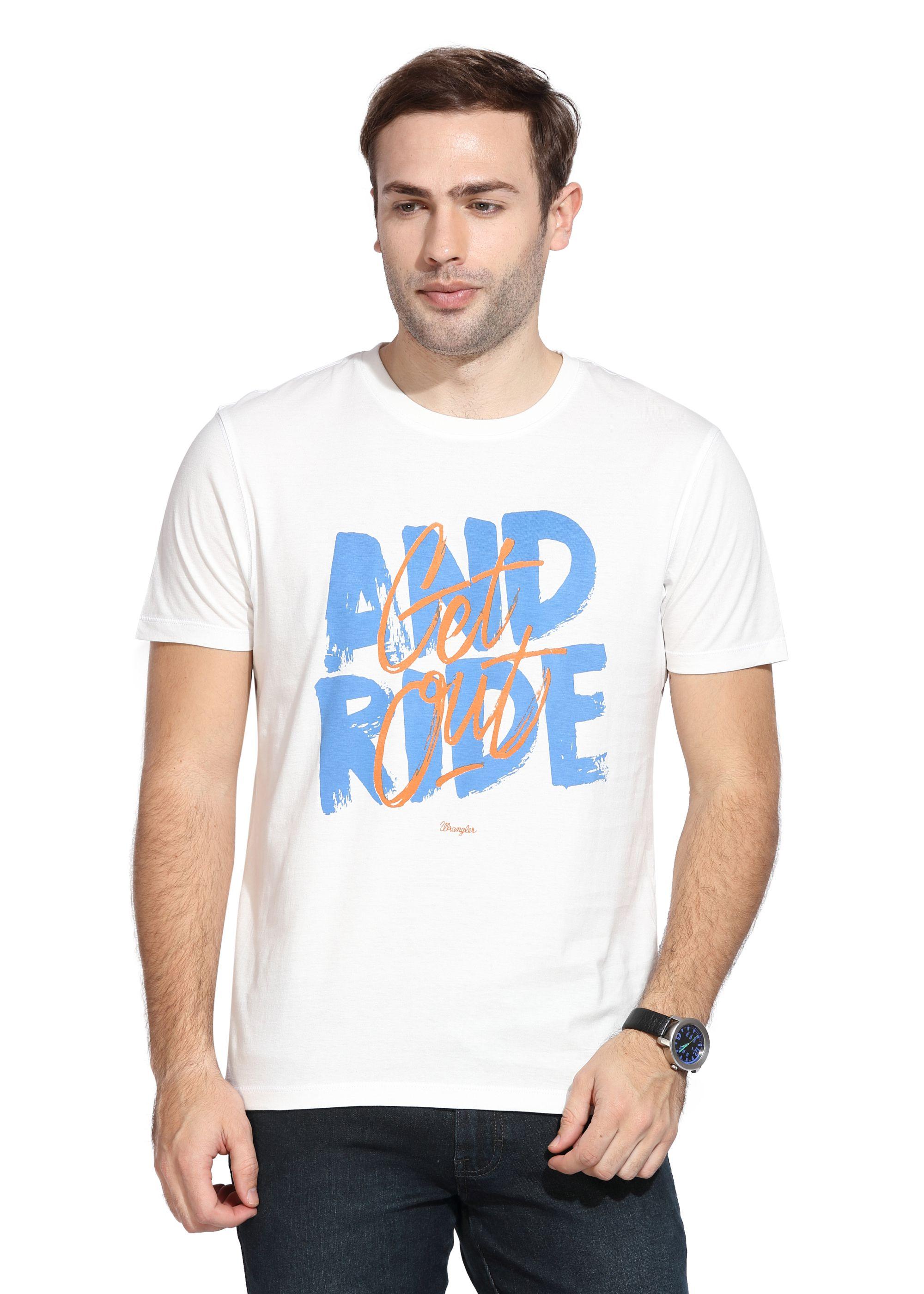 Wrangler White Round T-Shirt