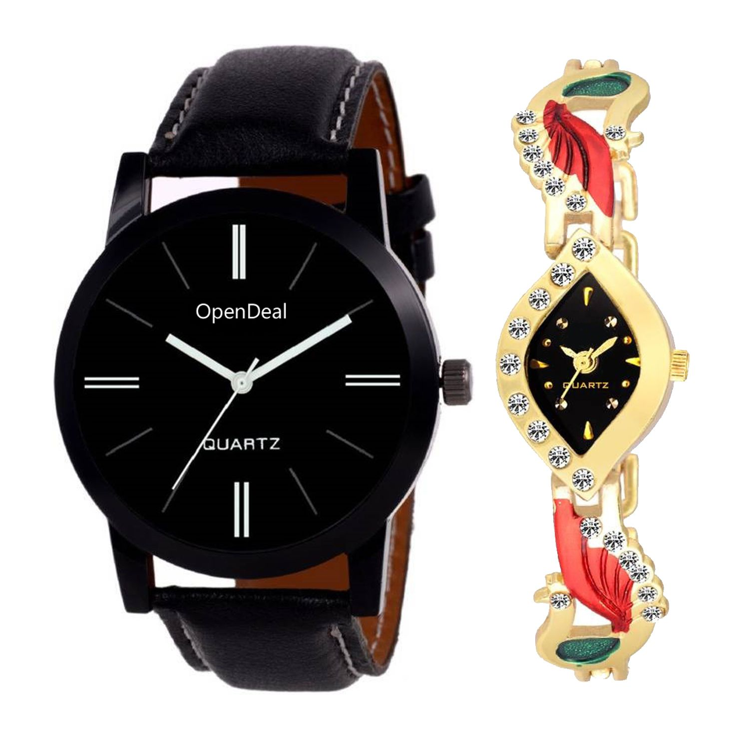 OD C2 055 New Arrival Stylish bo Couple Watch For Boys & Girls