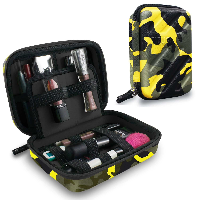 Tizum Cosmetic Organizer Toiletry Travel Kit Travel Organizer  for Cosmetic Makeup Brush Jewelry (Camouflage Yellow)