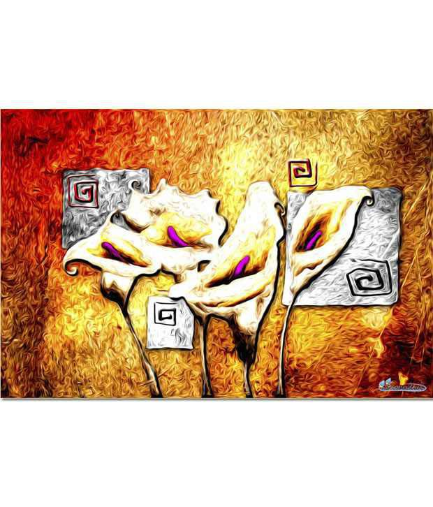 Anwesha's Gallery Wrapped Digitally Printed 30x20 Inch - 123 Canvas Painting With Frame