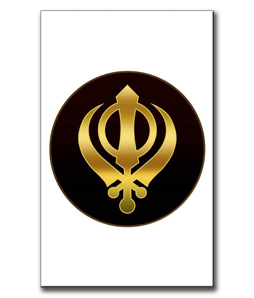 Anwesha's Gallery Wrapped Digitally Printed 12.5 X 20 Inch - Sikh Canvas Painting With Frame