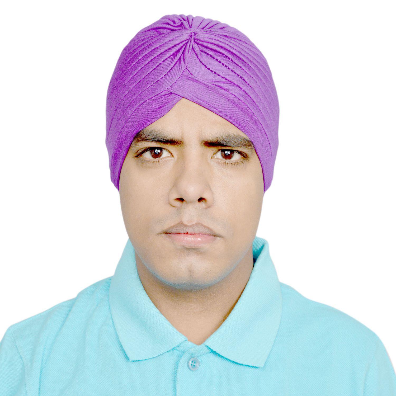 R.J.VON Purple Polyester Headwraps