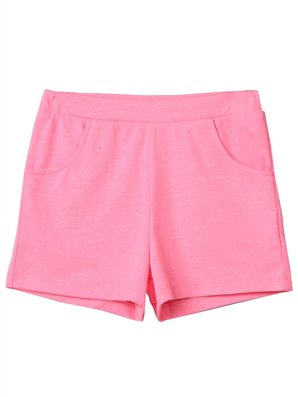 Neon Pink Jersey Short Pink 5Y