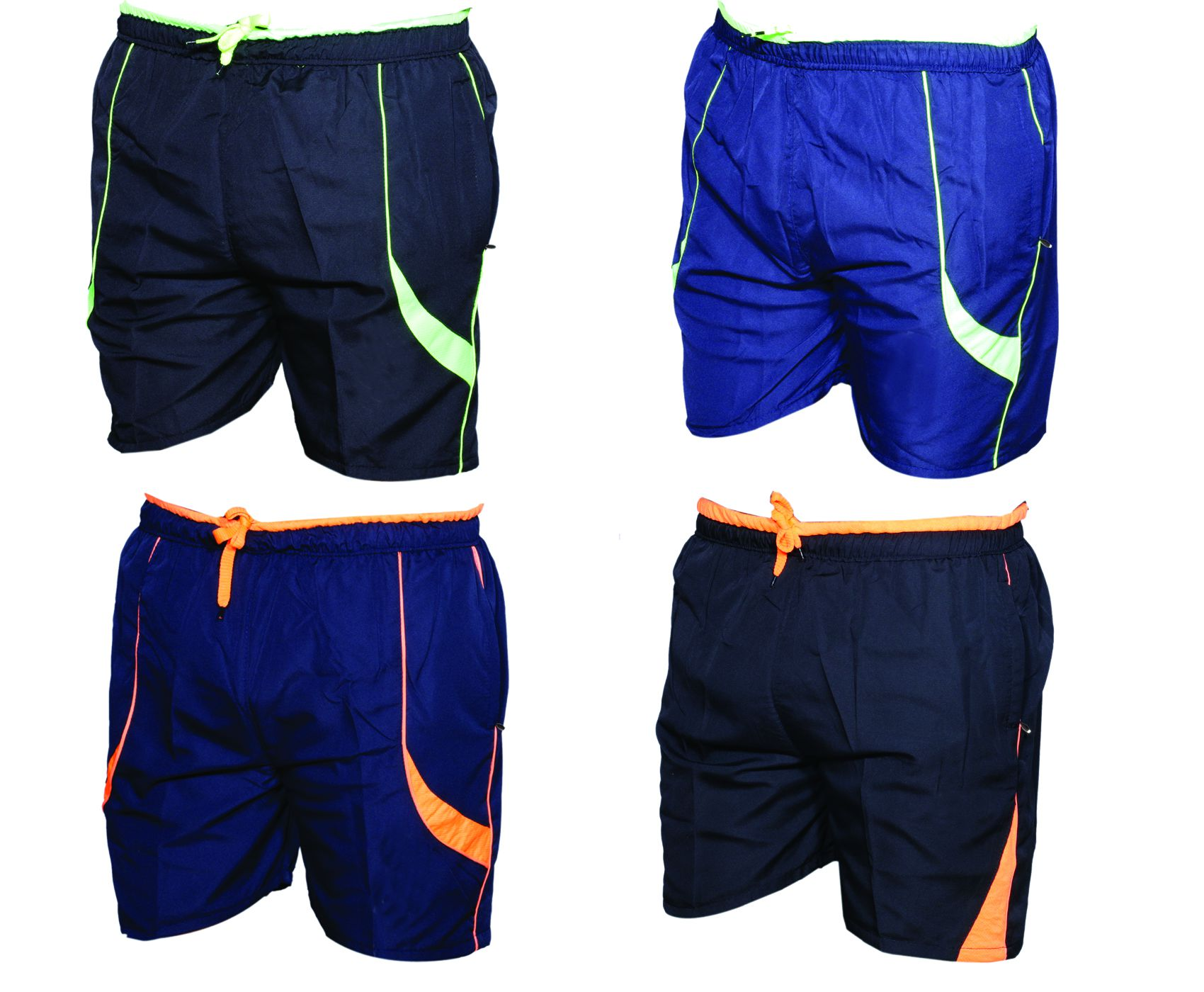 IndiWeaves Multi Shorts (Pack  of 4 Polyester Bermuda)