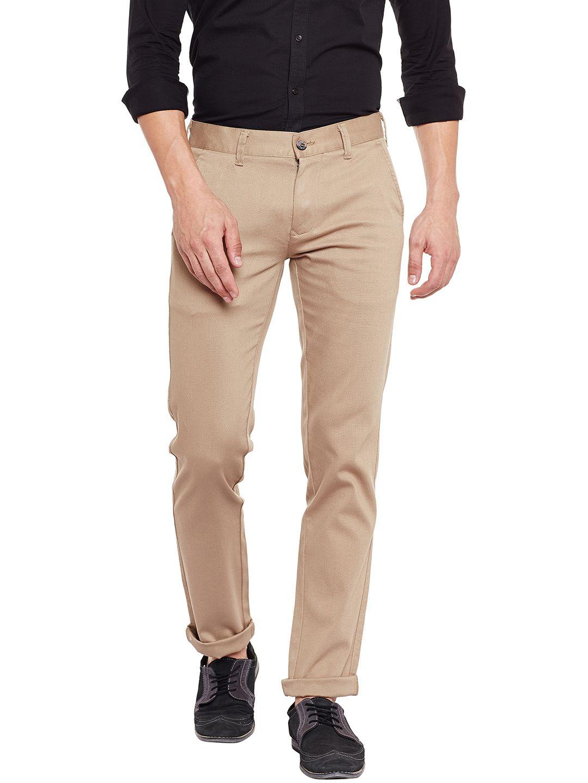 KILLER Beige Slim -Fit Flat Trousers