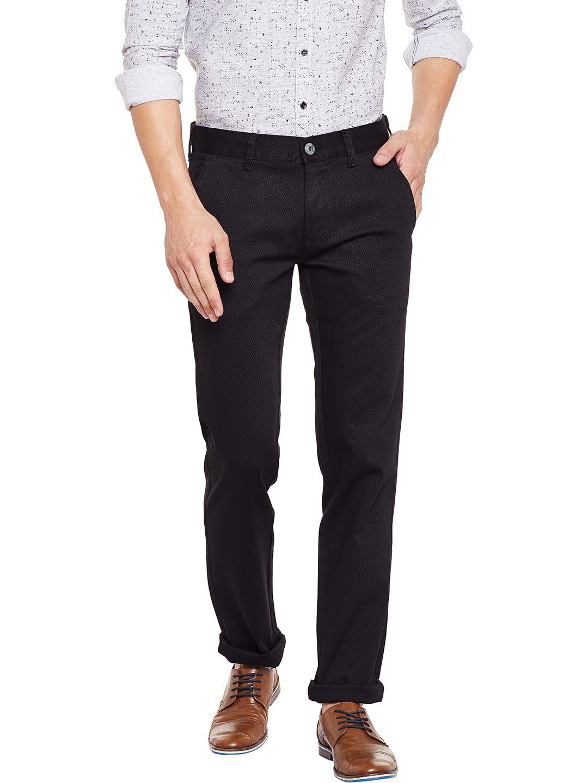KILLER Black Slim -Fit Flat Trousers