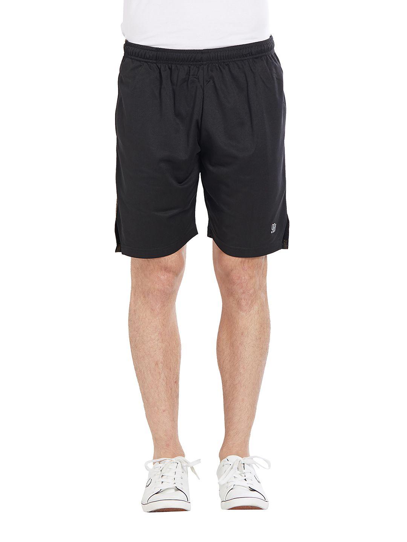 BONATY Black 100% Polyester Solid  Shorts For Men