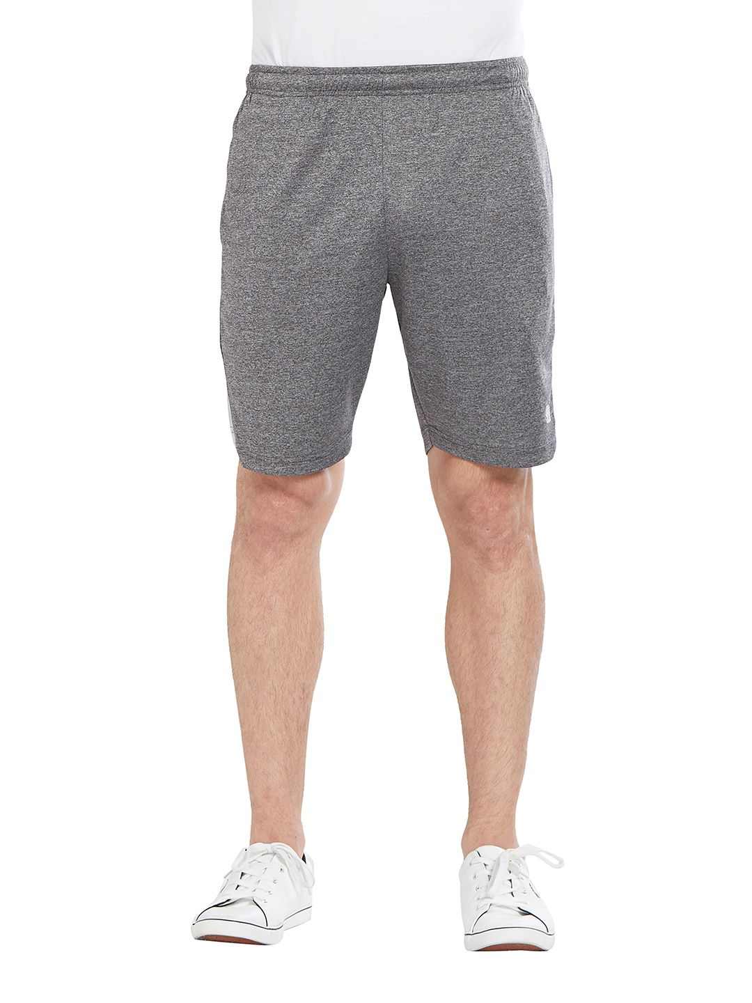 BONATY Light Grey 100% Polyester Solid  Shorts For Men