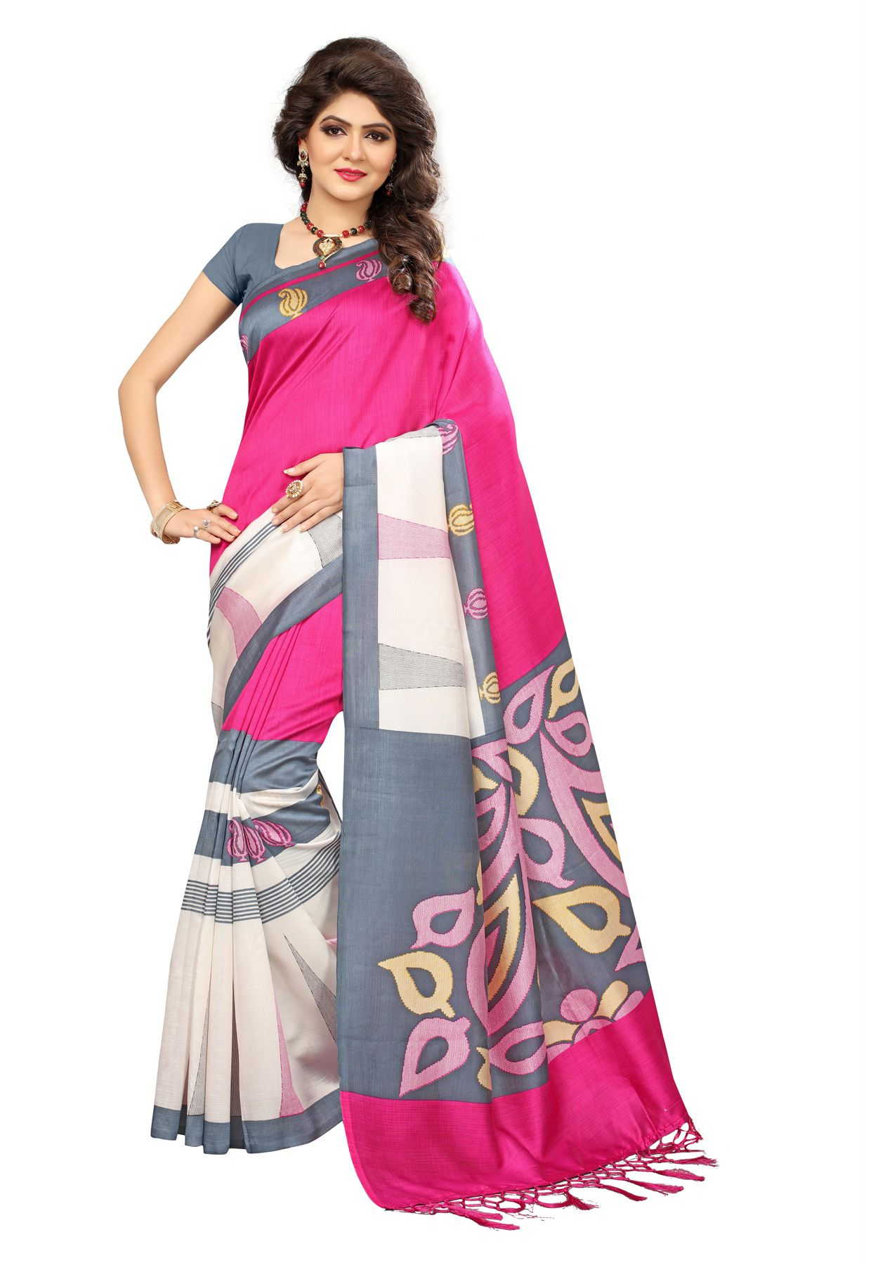 fb6d0c8c134 Salwar Studio Pink Mysore Silk Saree - Buy Salwar Studio Pink Mysore Silk  Saree Online at Low Price - Snapdeal.com