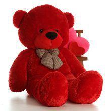 ToyHub Medium Very Soft 3 Feet Lovable/Huggable Teddy Bear with Neck Bow for Girlfriend/Birthday Gift/Boy/Girl (91 CM,Red)