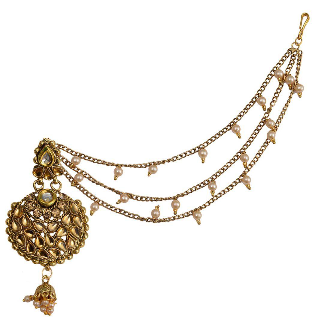 Taj Pearl Designer Traditional Earrings