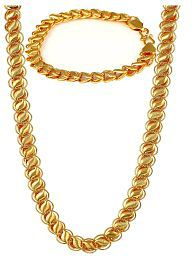J S Imitation Combo Pack Of Stylish Bracelet And Chains For Men And Boys