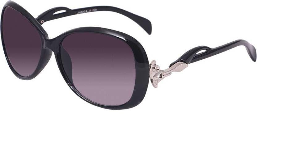 Hh Black Oval Sunglasses ( Jasica009BLK )