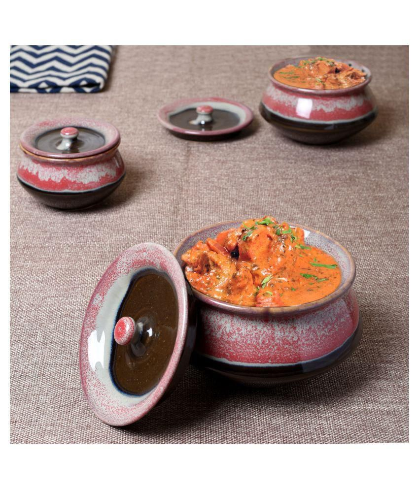 Unravel India ceramic studio Handi set (Set of 3)