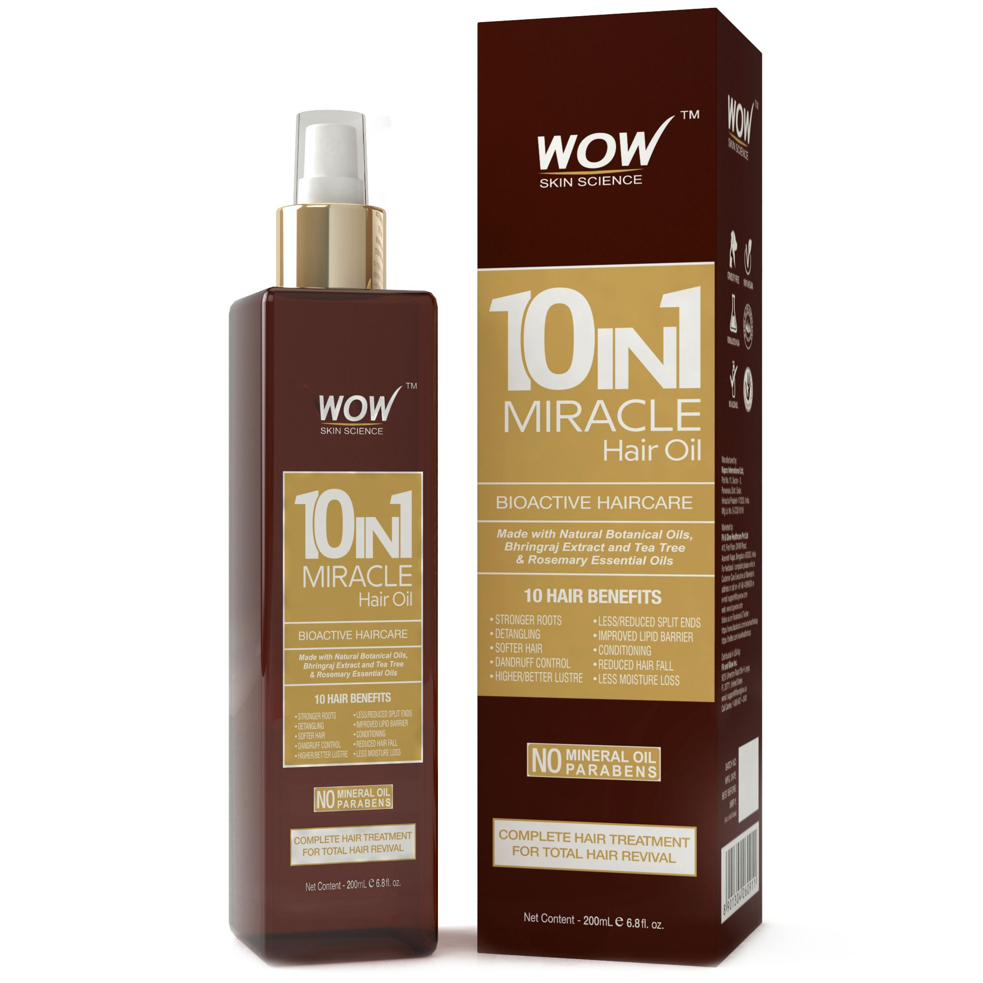 WOW Skin Science  10-in-1  Hair Oil Oil 200 ml