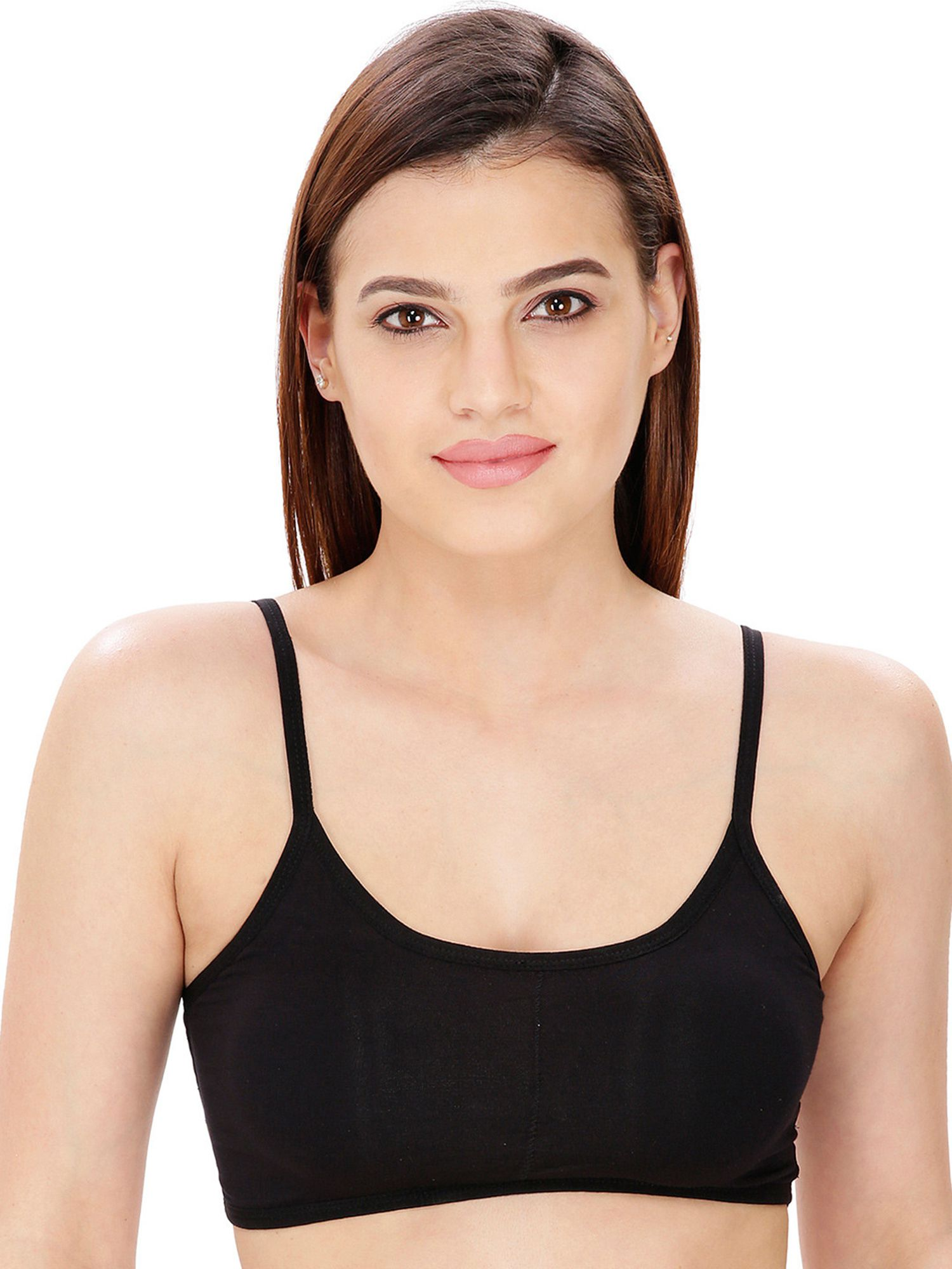 Dhara Cotton Lycra T-Shirt Bra - Black