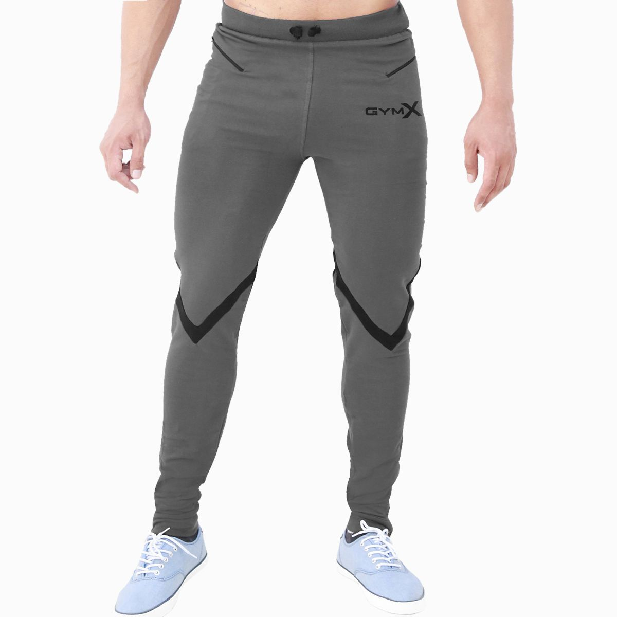 GymX Mens Valour Concrete Grey Sweatpants (Flex Fit)(Size:XX-Large)