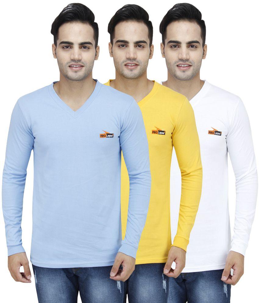PRO Lapes Multi V-Neck T-Shirt Pack of 3