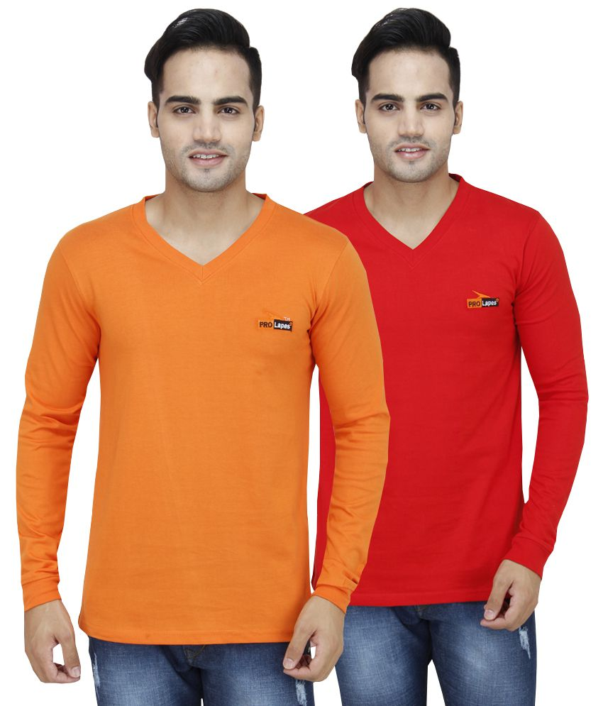 PRO Lapes Multi V-Neck T-Shirt Pack of 2