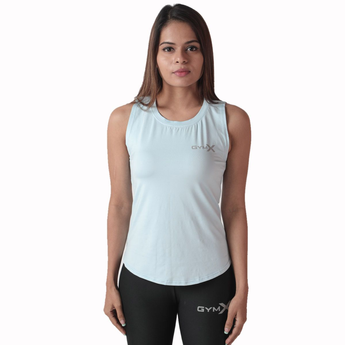Aura Blue GymX Women's Casual Top (Size:Small)