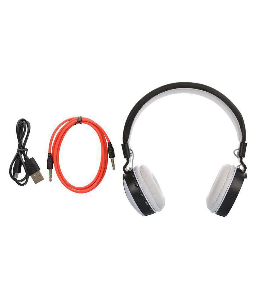 ROOQ MS771 with Bluetooth, MP3 player and FM Over Ear Wireless Headphones With Mic