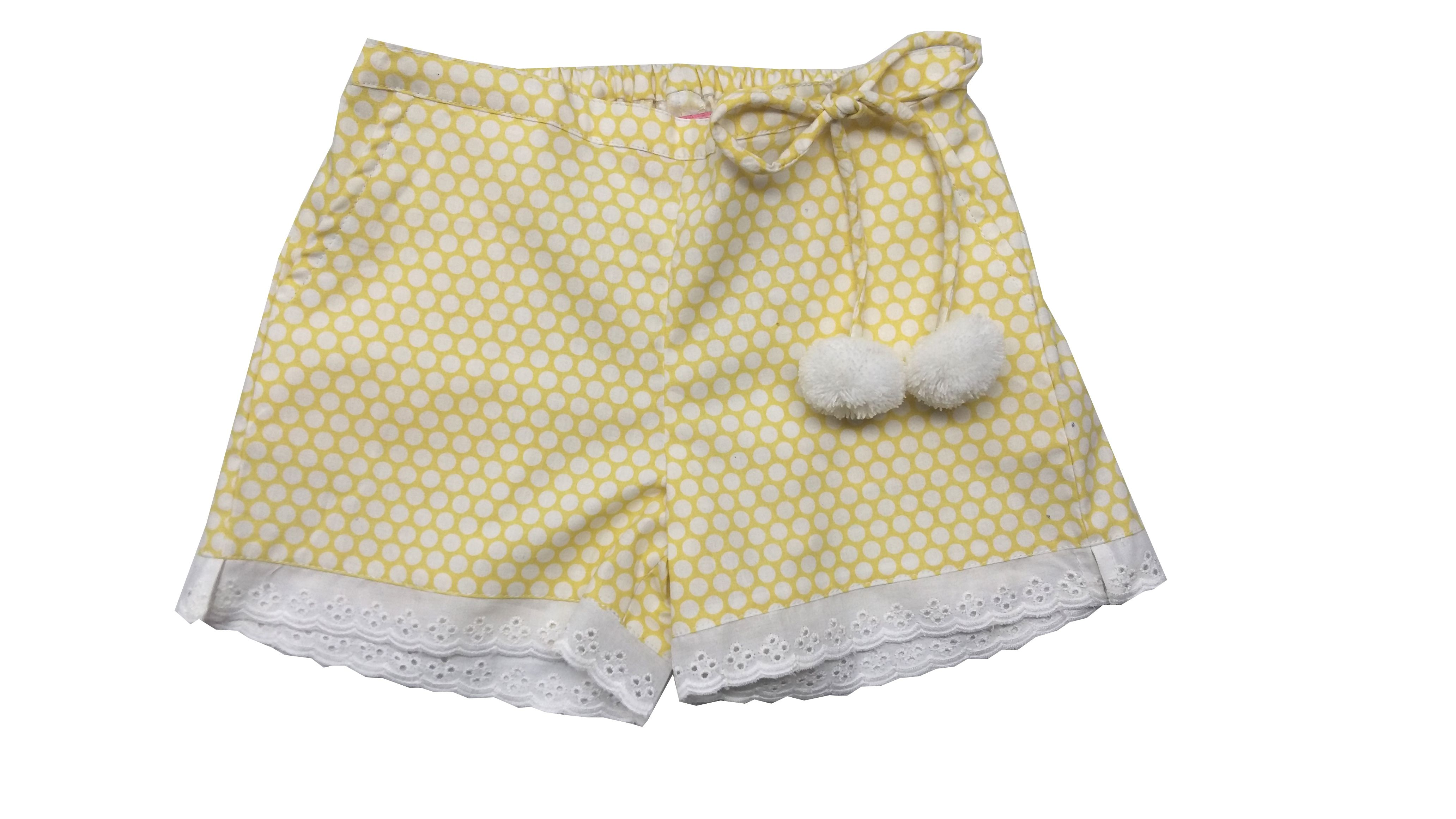 Always Kids Girls Yellow Bubble Daisy Shorts