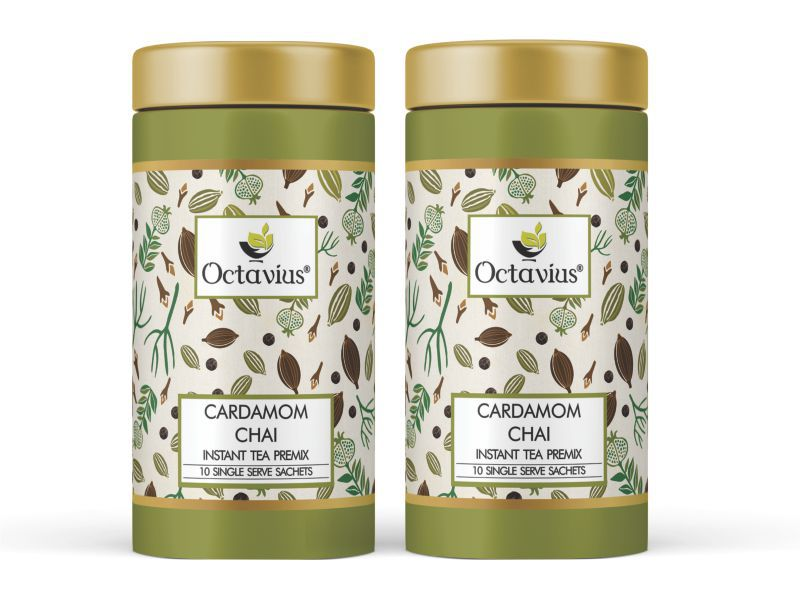 Octavius Cardamom Ready Tea 10 Sachets Gift Tin Pack of 2