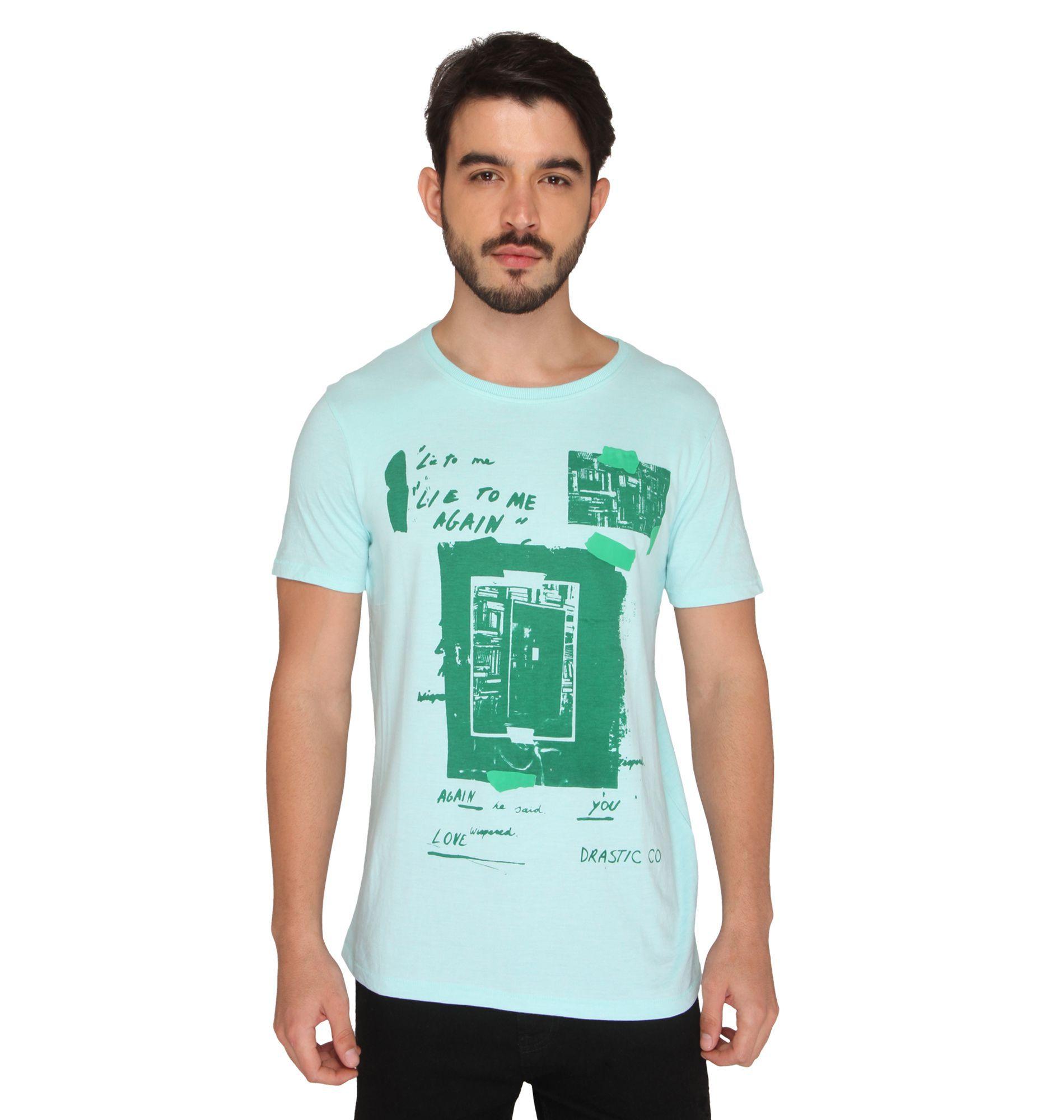 Drastic Green Round T-Shirt