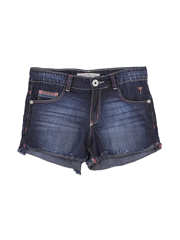 Palm Tree Dark Blue  Shorts