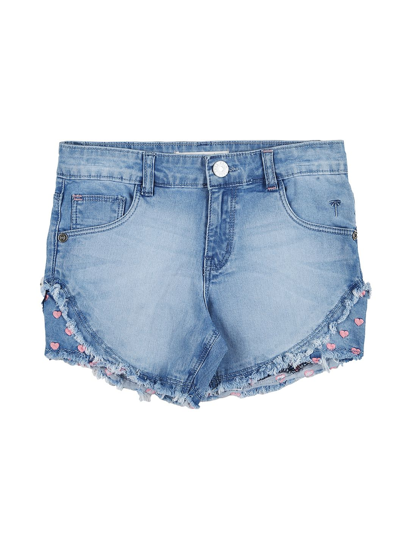 Palm Tree Light Blue  Shorts