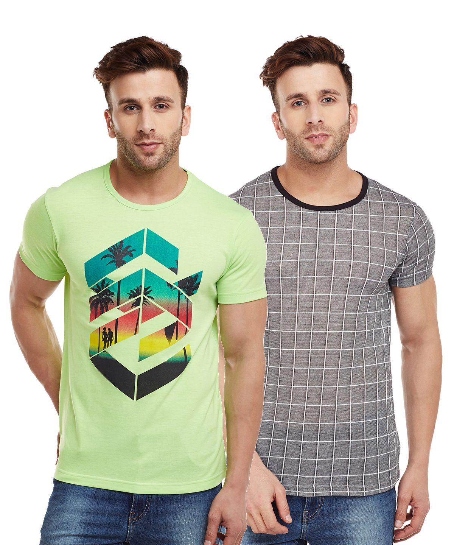 Vimal Jonney Multi Round T-Shirt Pack of 2