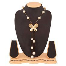 Navya Collection Jewelry Stylish Pendants for Girls with Long Chain Butterfly Pendent Party Western Wear Necklace For Women & Girls