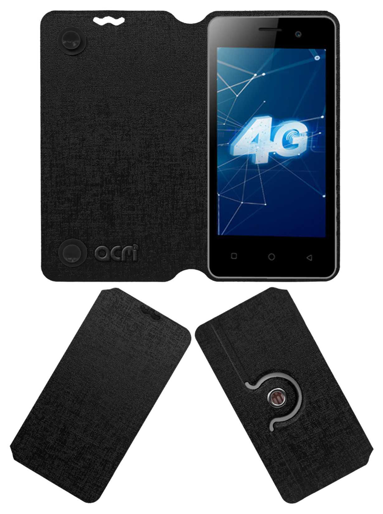 new arrivals f7a65 fa6aa Itel A20 Flip Cover by ACM - Black