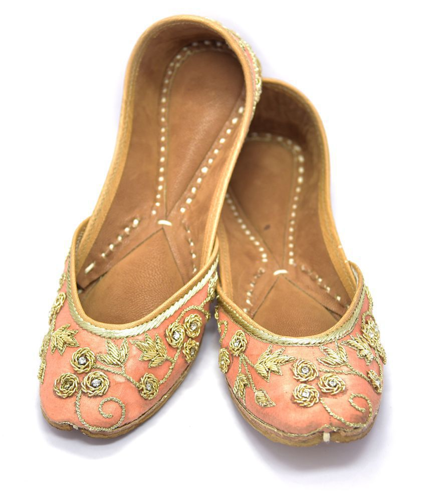 Just Differ PeachPuff Ethnic Footwear