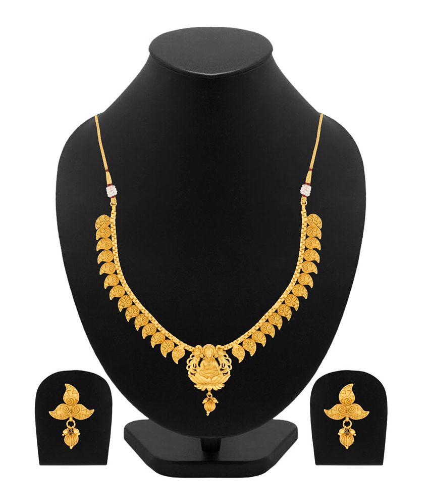 Voylla Mahalakshmi Design Spark Route Necklace Set