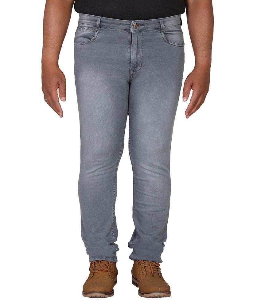 PRANKSTER Grey Slim Jeans