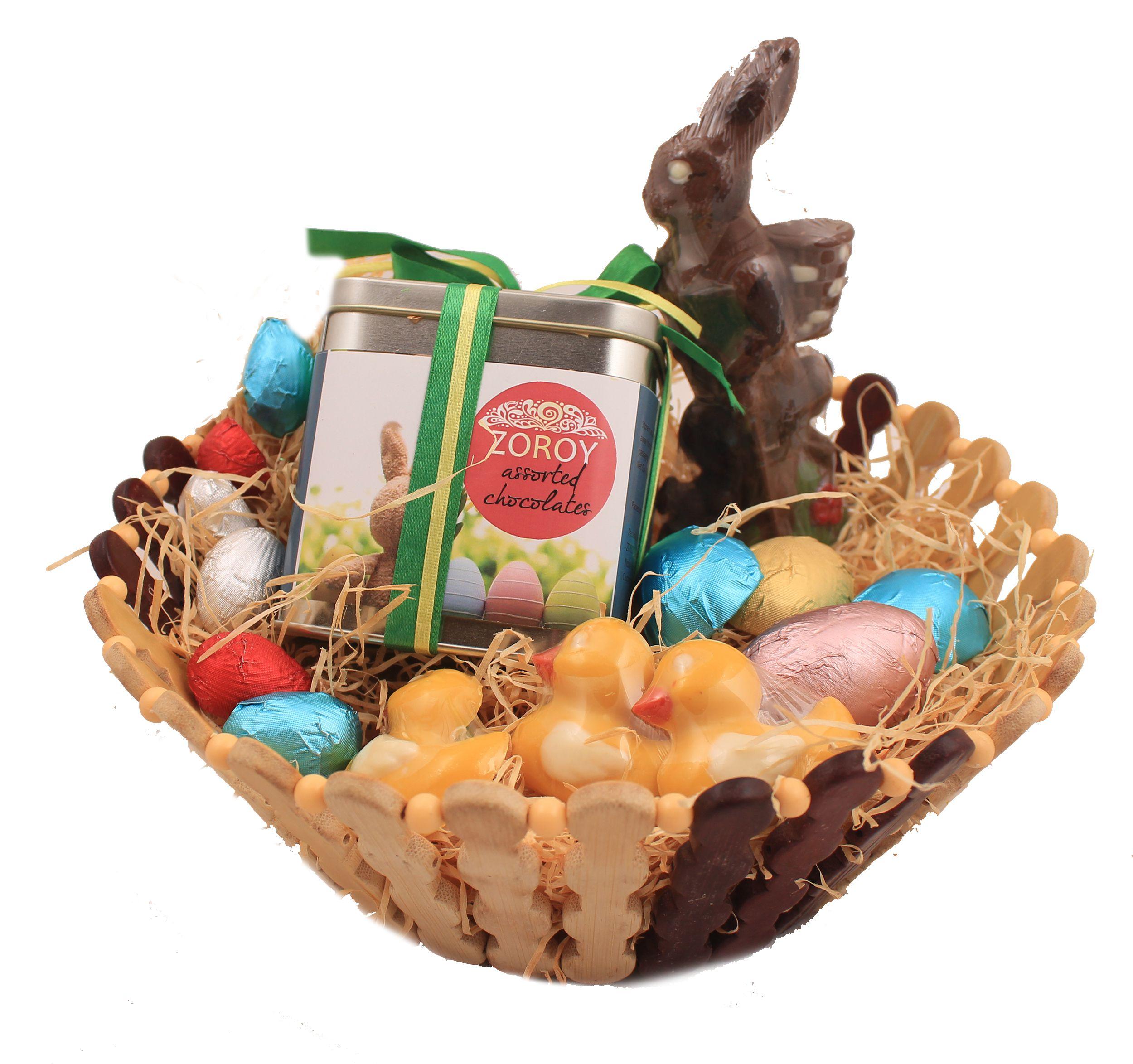 Zoroy Luxury Chocolate Easter Chocolates Assorted Basket 500 gm