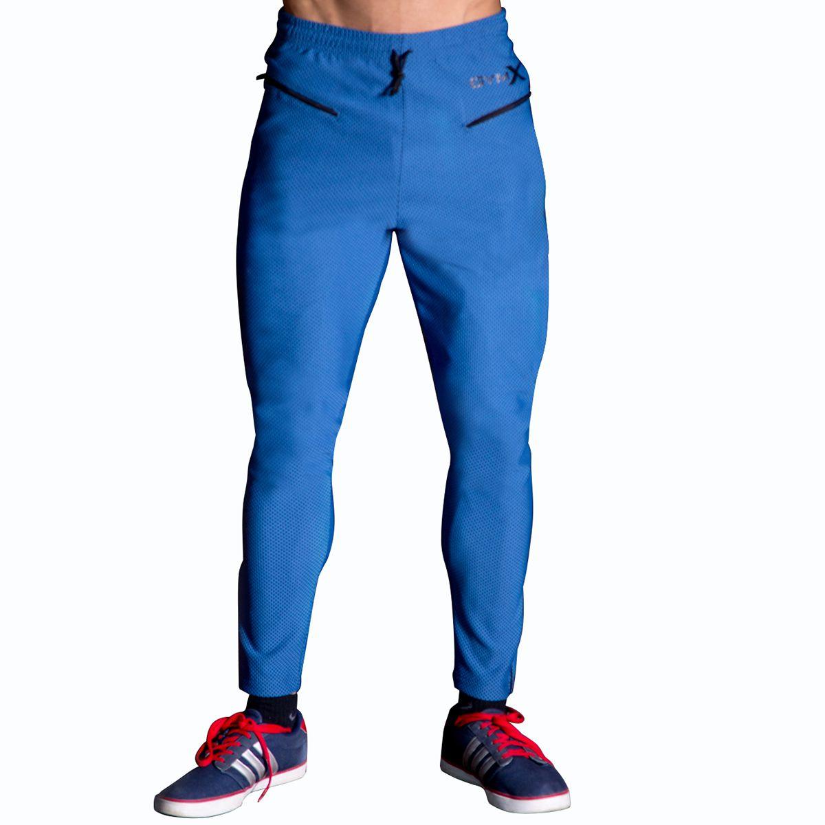 GymX Mens Vanquish Sweatpants- Ocean Blue