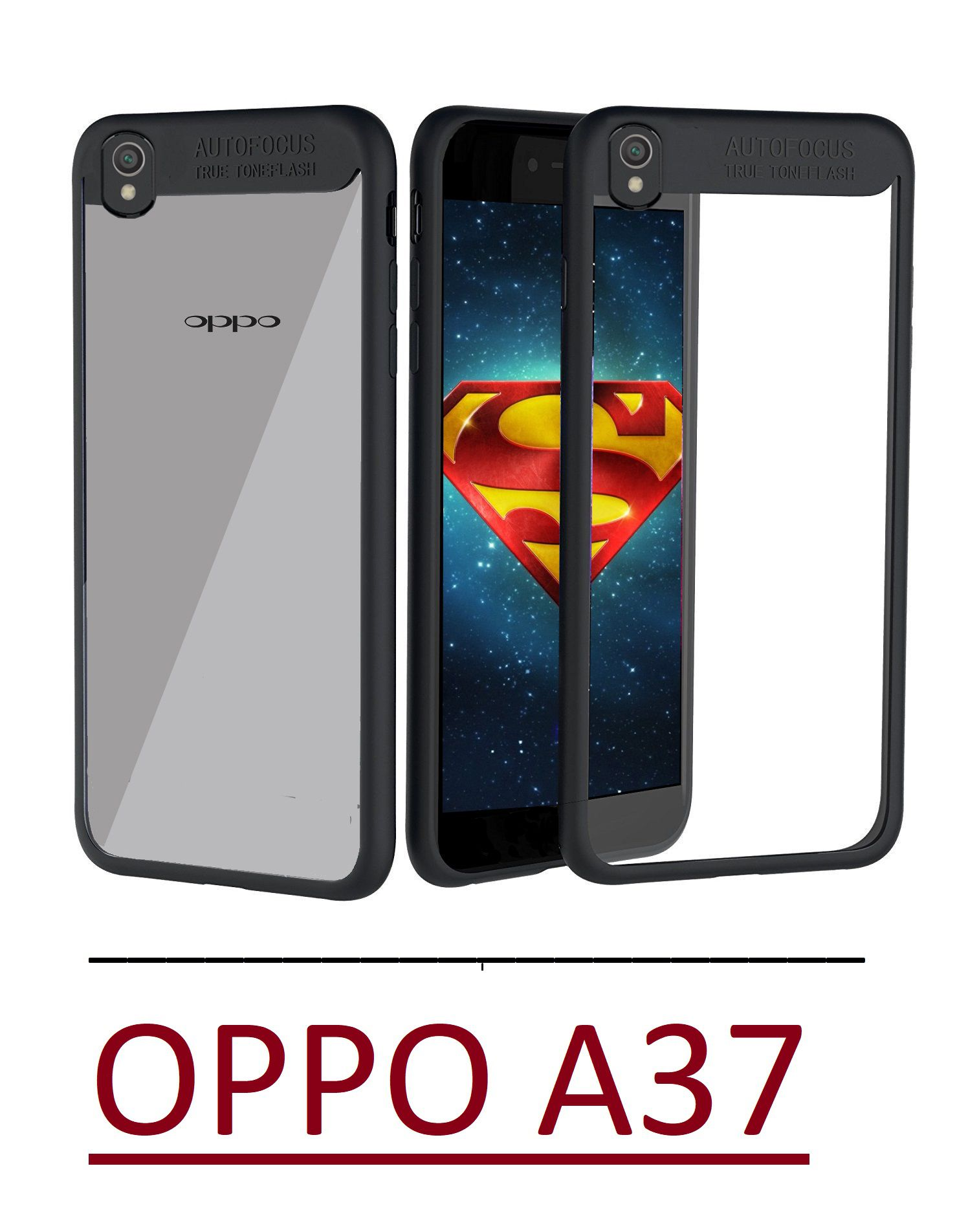 Oppo A37 Bumper Cases Ace HD Black