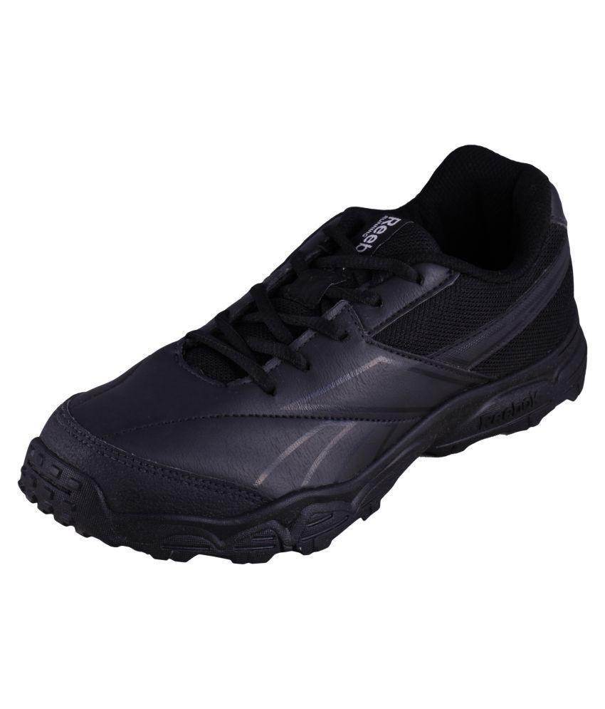 0353d8b12533 Reebok Boy s Racer K 4 Black Lace School shoes