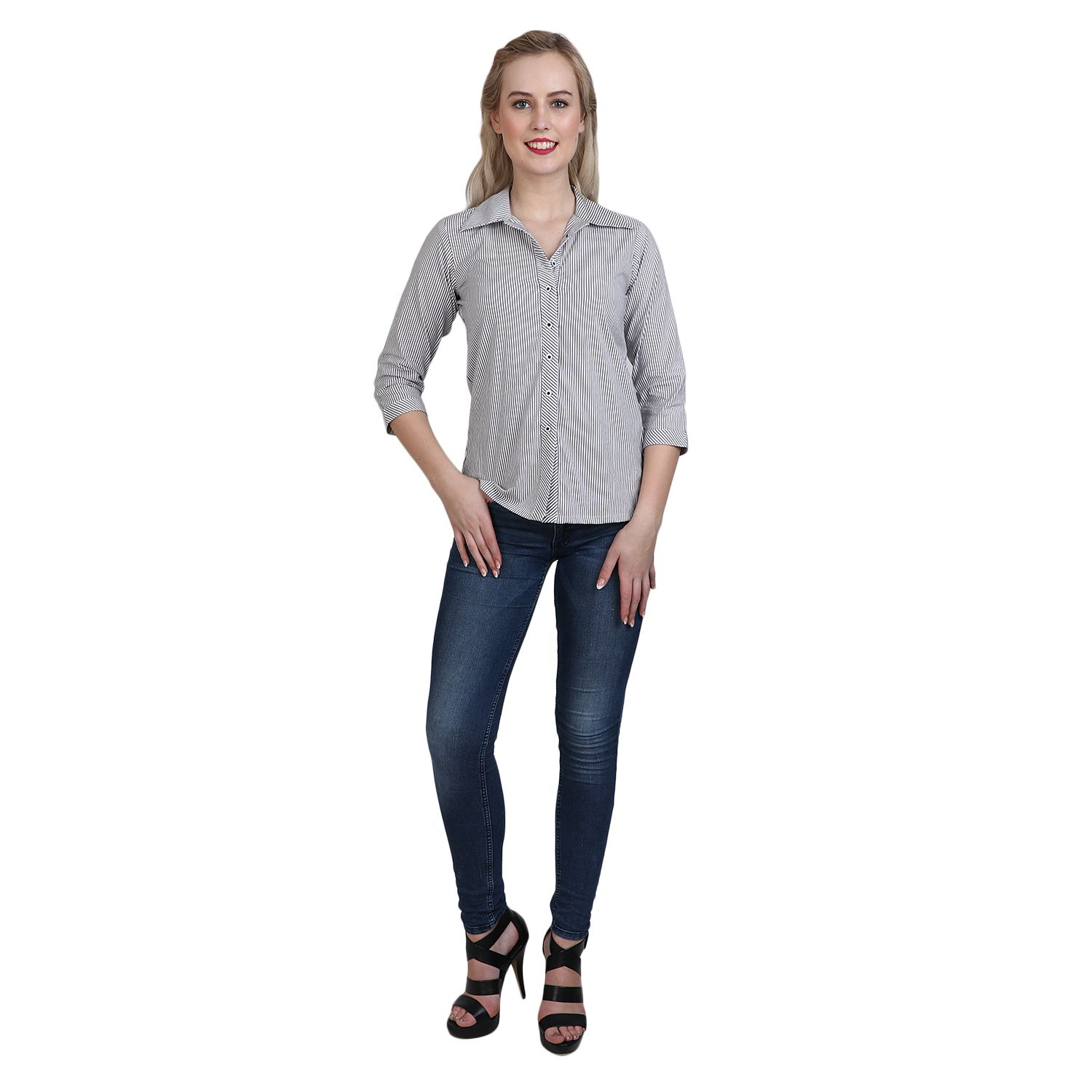 Vaijyanti Cotton Regular Tops - Grey