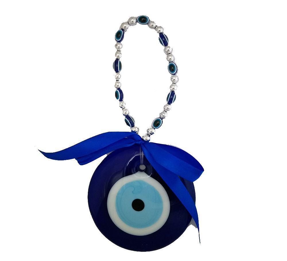 Divya mantra Ring Evil Eye Pendant Amulet for Car Door Hanging Blue