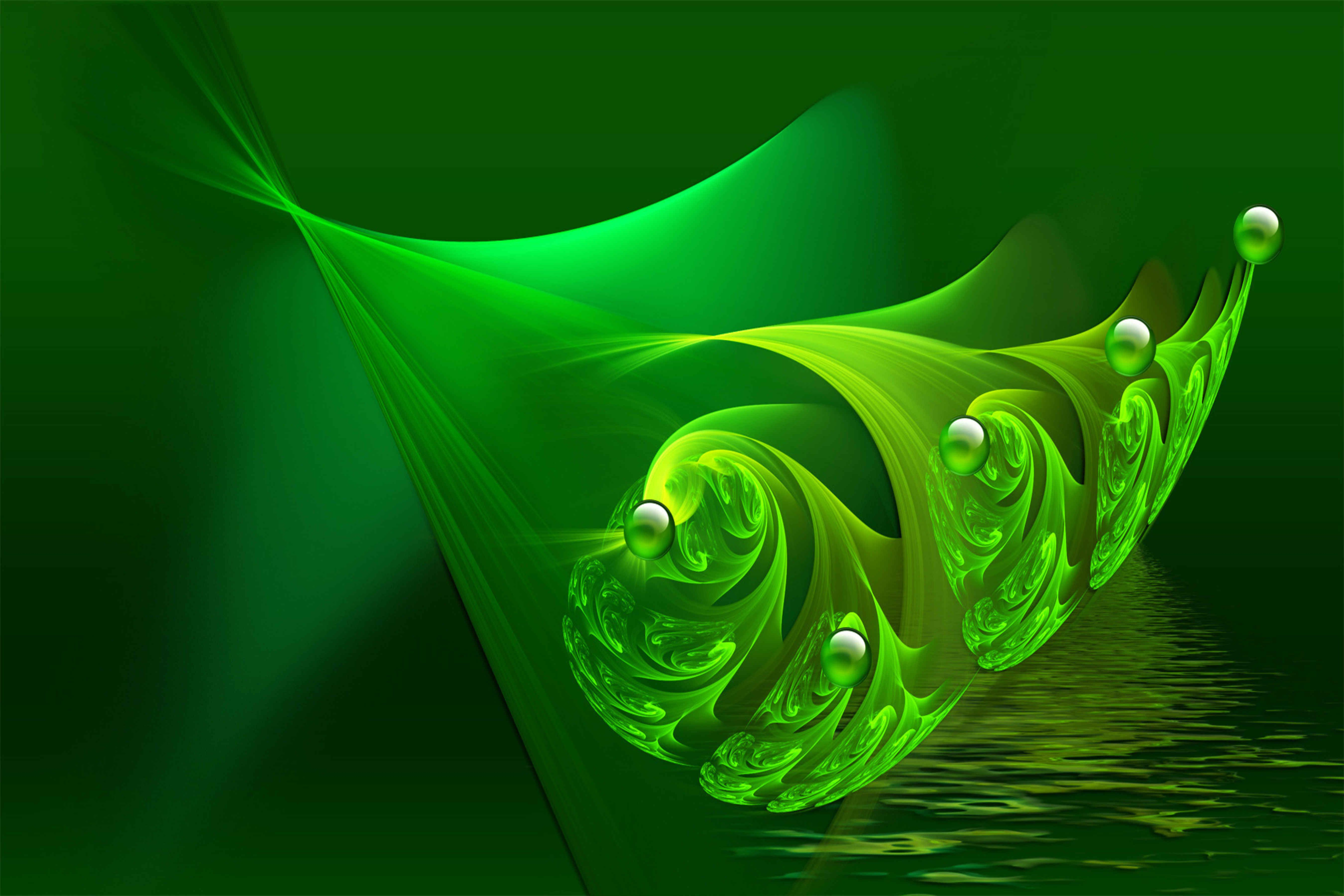 Avikalp Waves And Spheres Paper Wall Poster Without Frame