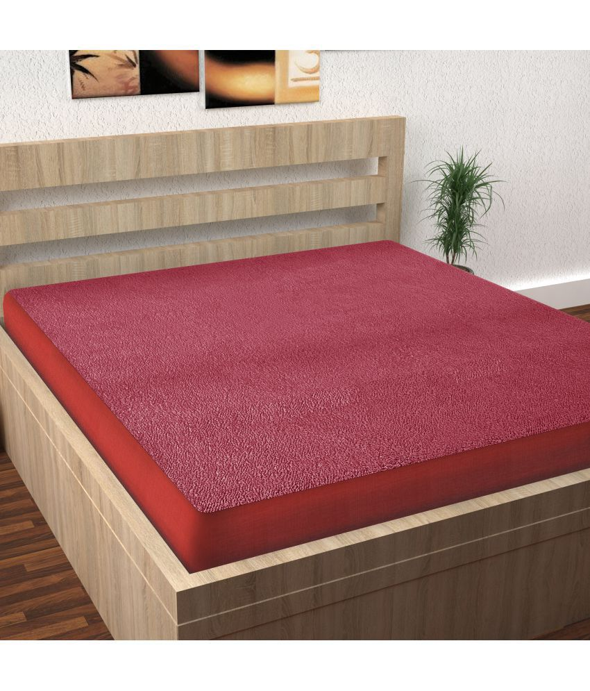 Story@Home Terry Mattress Protector Pink Cotton Mattress Protector