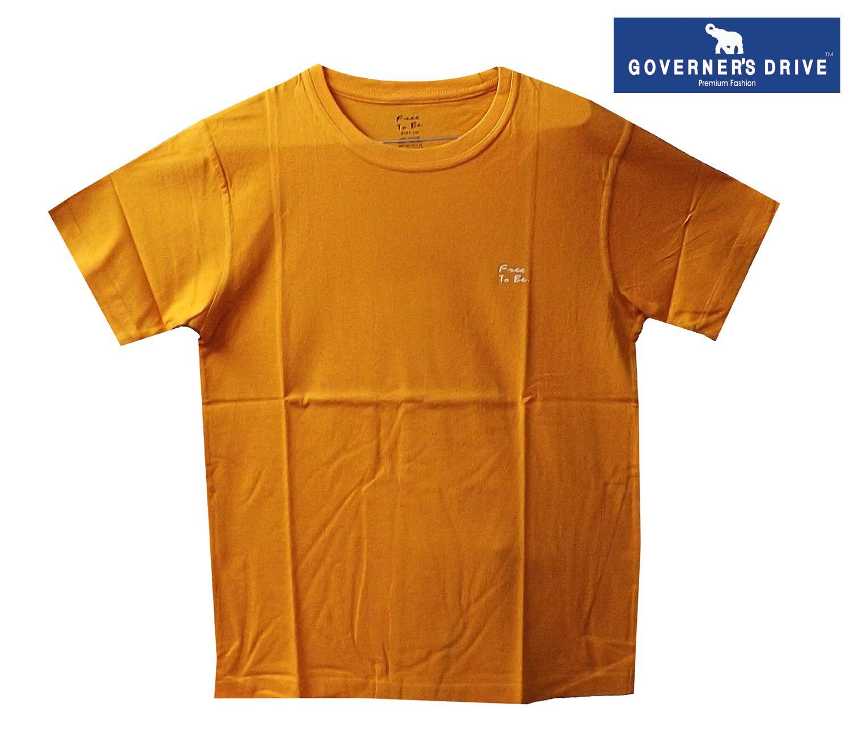 GOVERNER'S DRIVE Orange Round T-Shirt Pack of 1