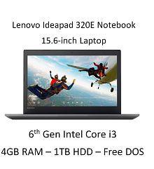 Lenovo Ideapad 320E 80XH01GKIN Notebook (6th Gen Intel Core i3- 4GB RAM- 1TB HDD- 39.62cm(15.6)- DOS) (Grey)