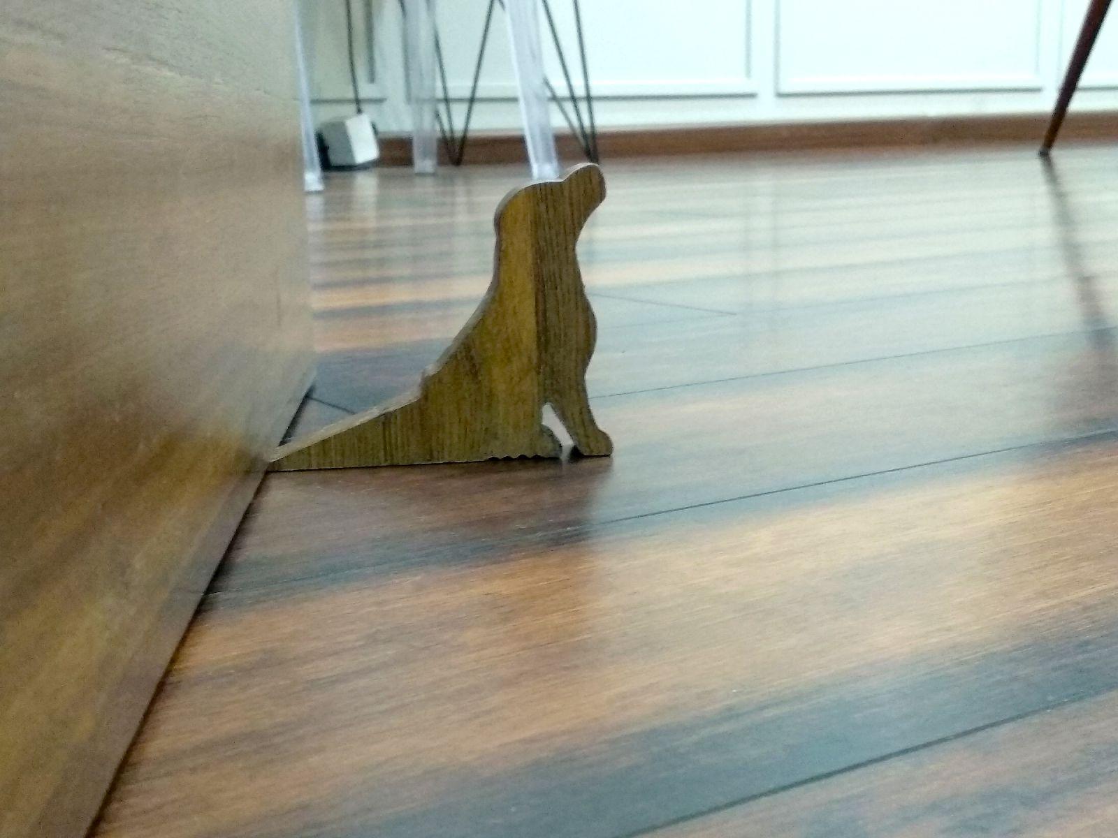 Buy Jaamsoroyals Dog Design Small Non Slip Wooden Door Stoppers To