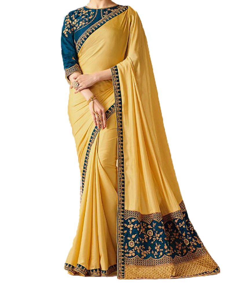 Saree Designer wear Multicoloured Chiffon Saree