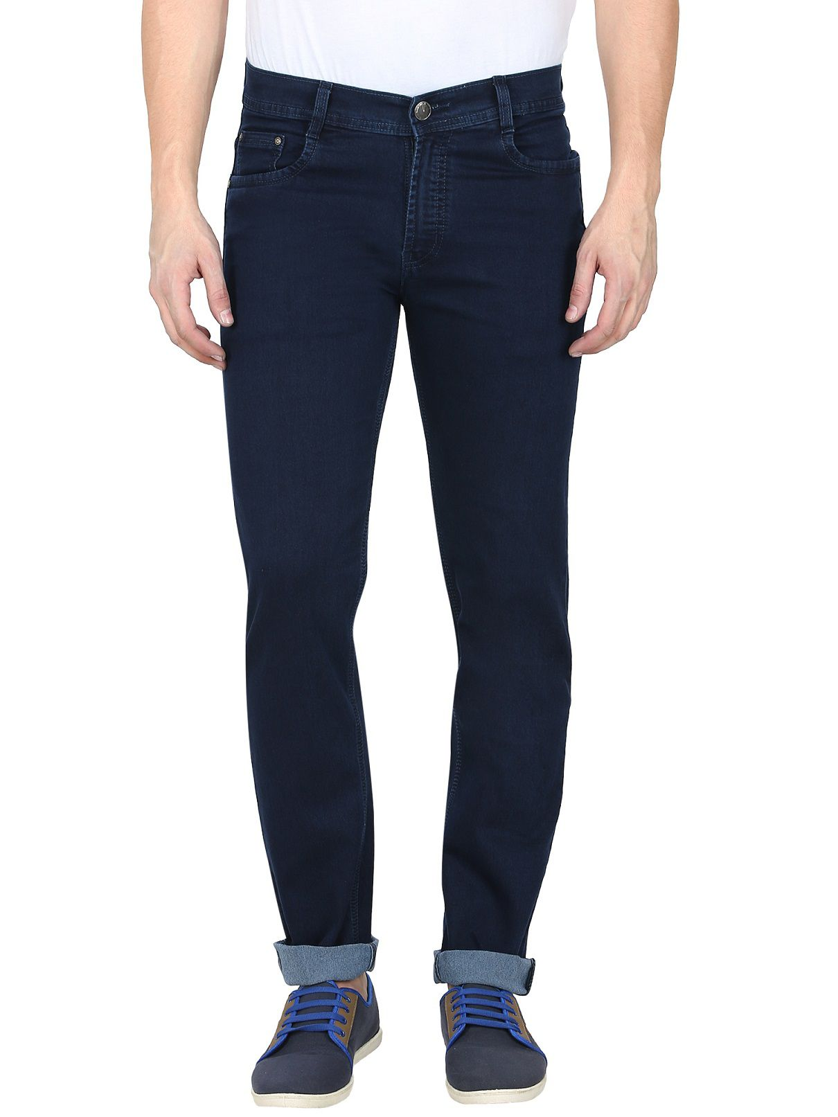 gradely Dark Blue Regular Fit Jeans